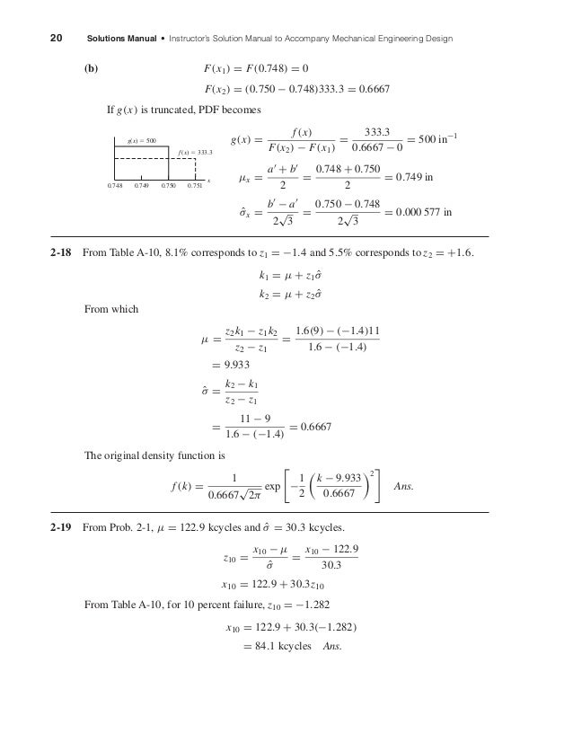 20 Solutions Manual • Instructor's Solution Manual to Accompany Mechanical Engineering Design (b) F(x1) = F(0.748) = 0 F(x...