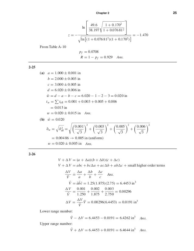 Chapter 2 25 z = − ln   49.6 38.197 1 + 0.1702 1 + 0.076 812   ln (1 + 0.076 812)(1 + 0.1702) = −1.470 From Table A-10...