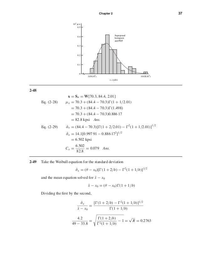Chapter 2 37 2-48 x = Su = W[70.3, 84.4, 2.01] Eq. (2-28) µx = 70.3 + (84.4 − 70.3) (1 + 1/2.01) = 70.3 + (84.4 − 70.3) (1...