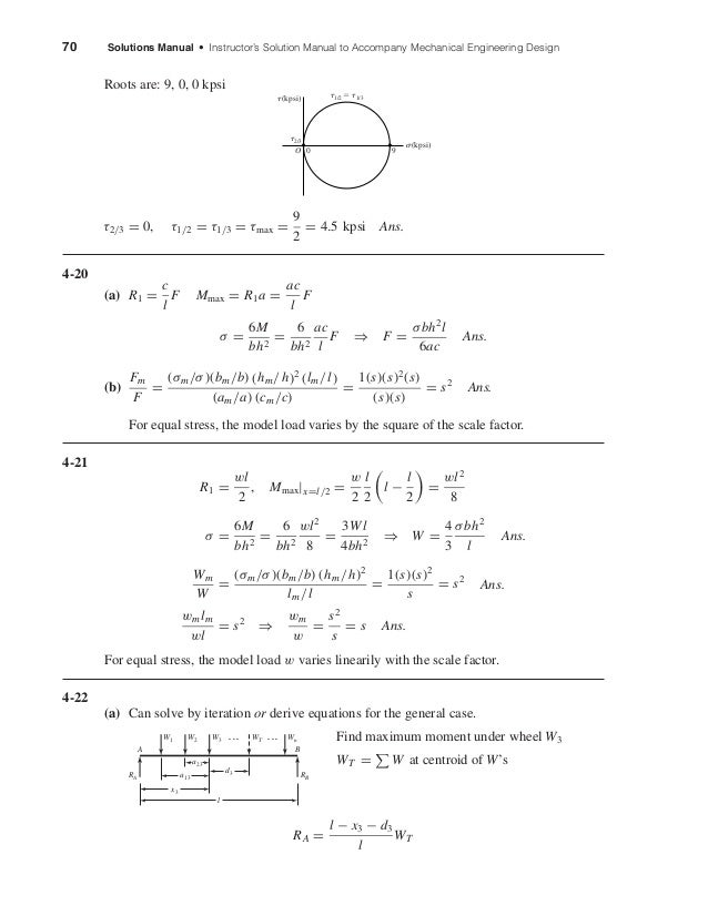 70 Solutions Manual • Instructor's Solution Manual to Accompany Mechanical Engineering Design Roots are: 9, 0, 0 kpsi τ2/3...