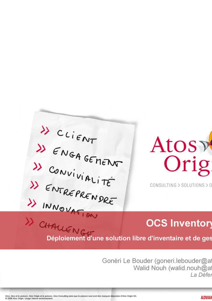 OCS Inventory & GLPI                                            Déploiement d'une solution libre d'inventaire et de gestio...