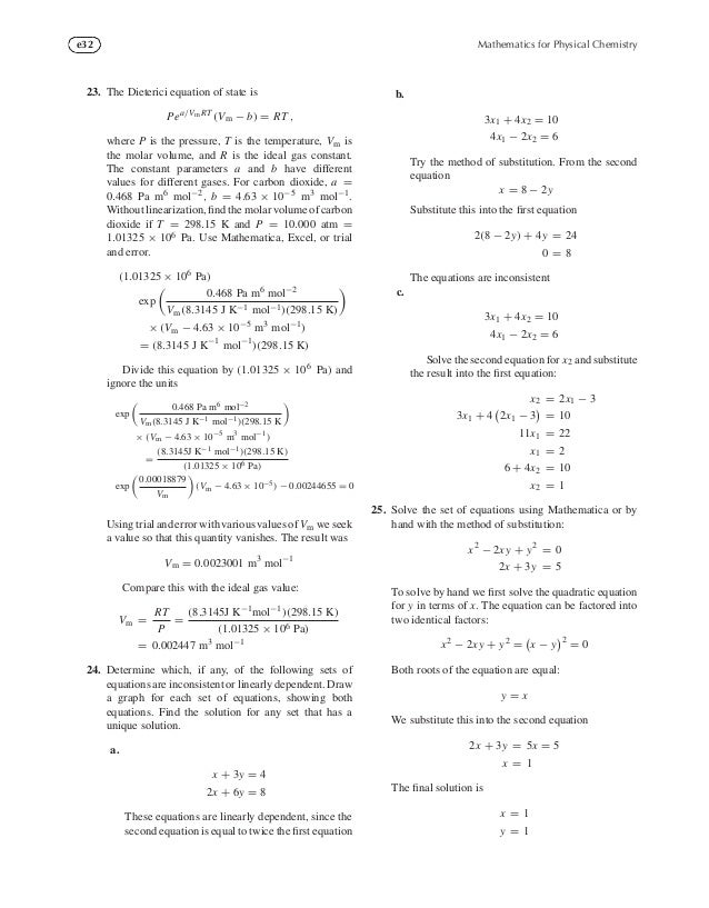 Mathematics for Physical Chemistry, Fourth Edition