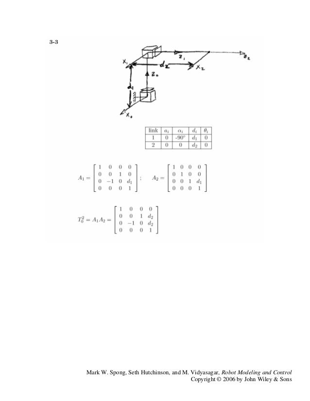 spong robot modeling and control solution manual