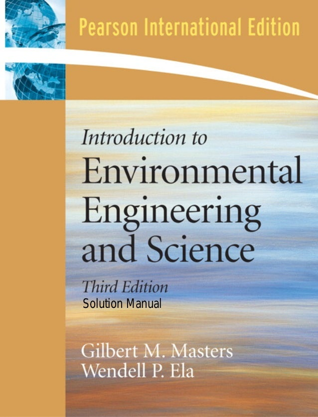 Solution for introduction to environment engineering and science 3rd solution manual fandeluxe Gallery