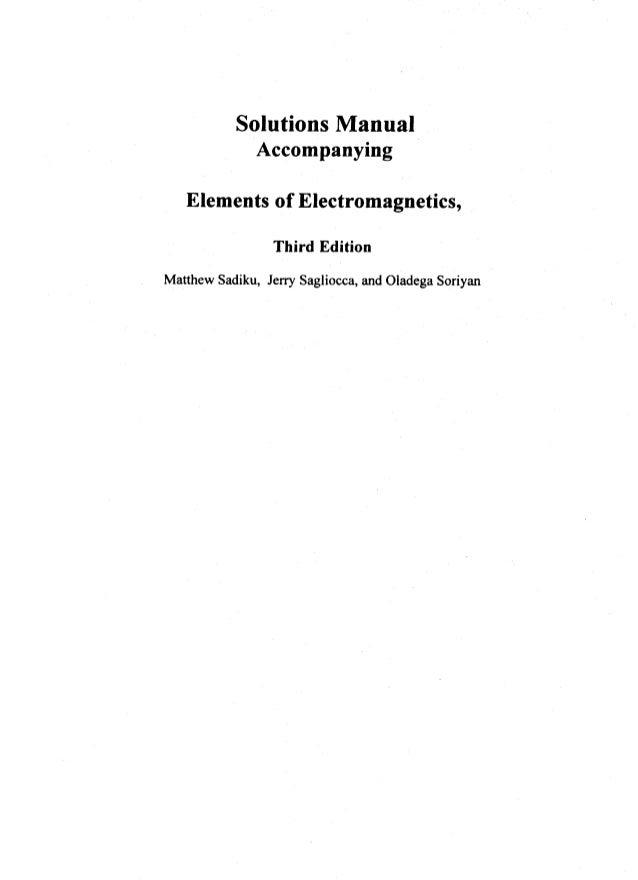 Elements Of Electromagnetics Sadiku 4th Edition Pdf