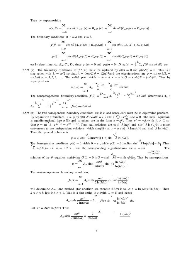 Solutions Manual For Applied Partial Differential Equations With Four