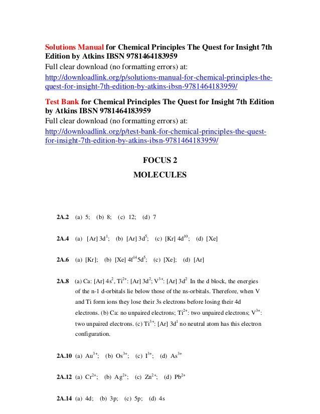 Principles atkins chemical pdf edition 6th
