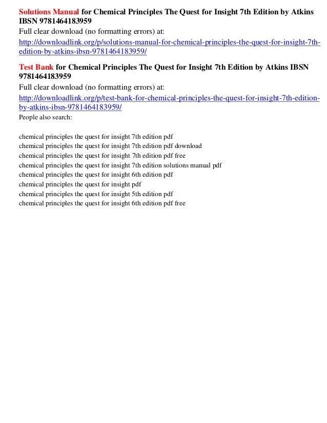 Principios de química (pdf!!! ) por atkins, jones, y laverman {2012.