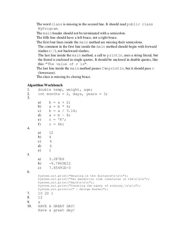 Homework solutions for gaddis java 5 quotes essay indent