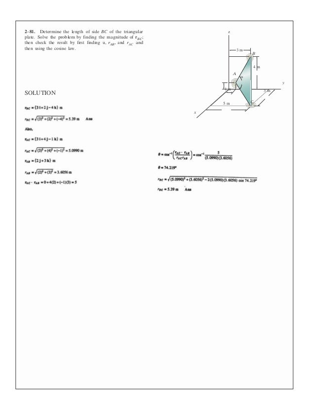 Solutions Manual For Statics And Mechanics Of Materials 4th Edition B