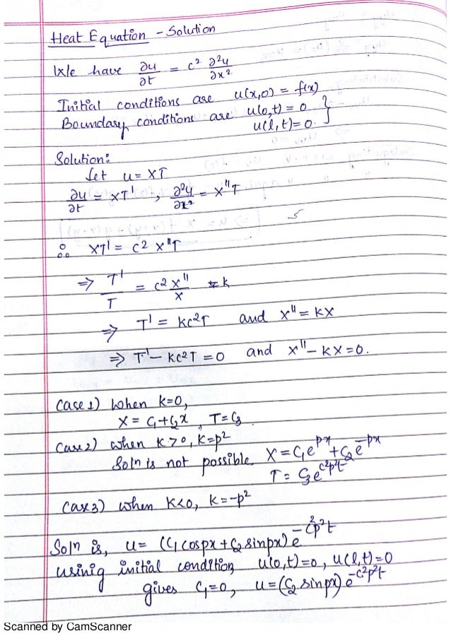 Solutions Of Heat Equation And Problems