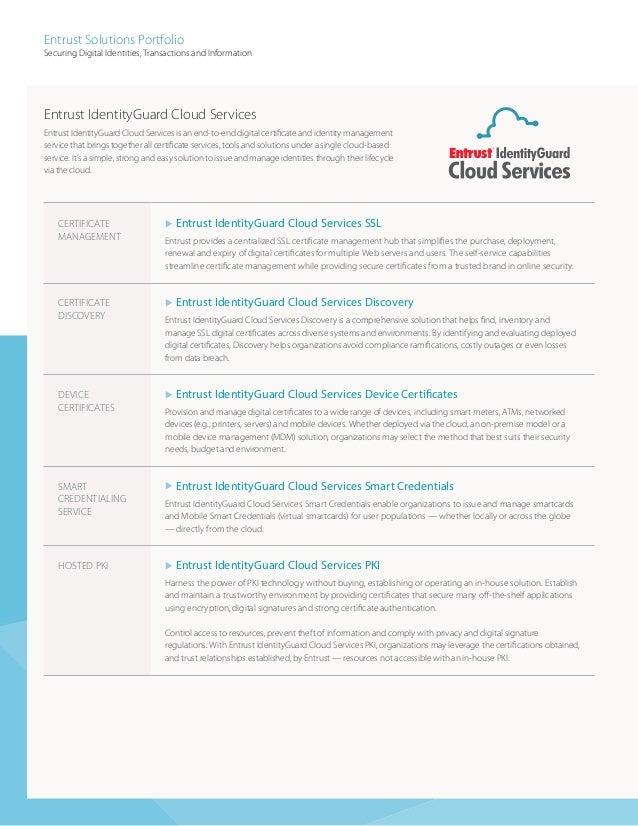 Entrust Solutions Portfolio