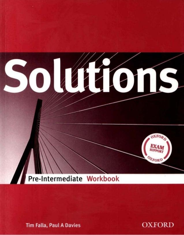 Solutions pre-intermediate ukrainian edition workbook.