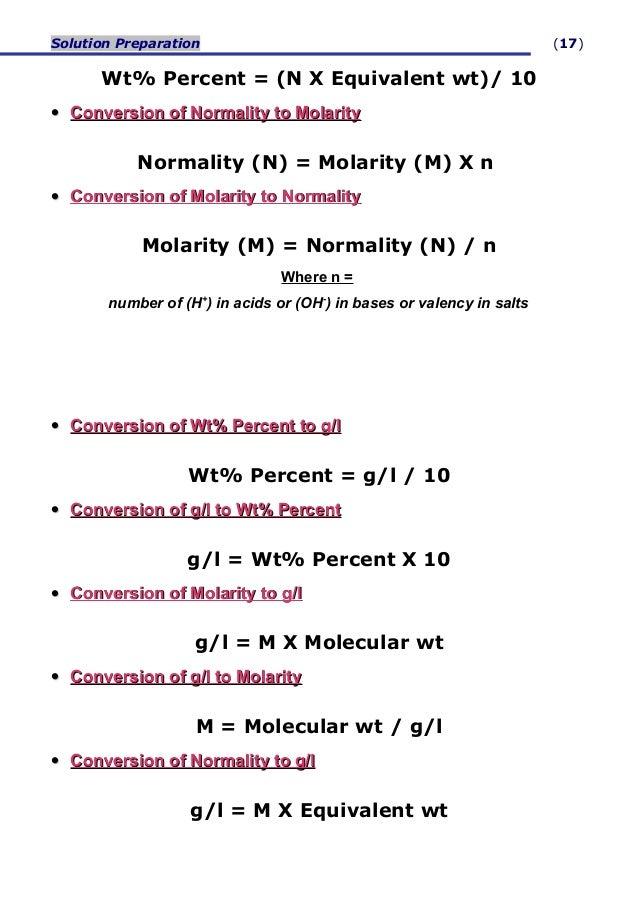 Molarity normality calculator