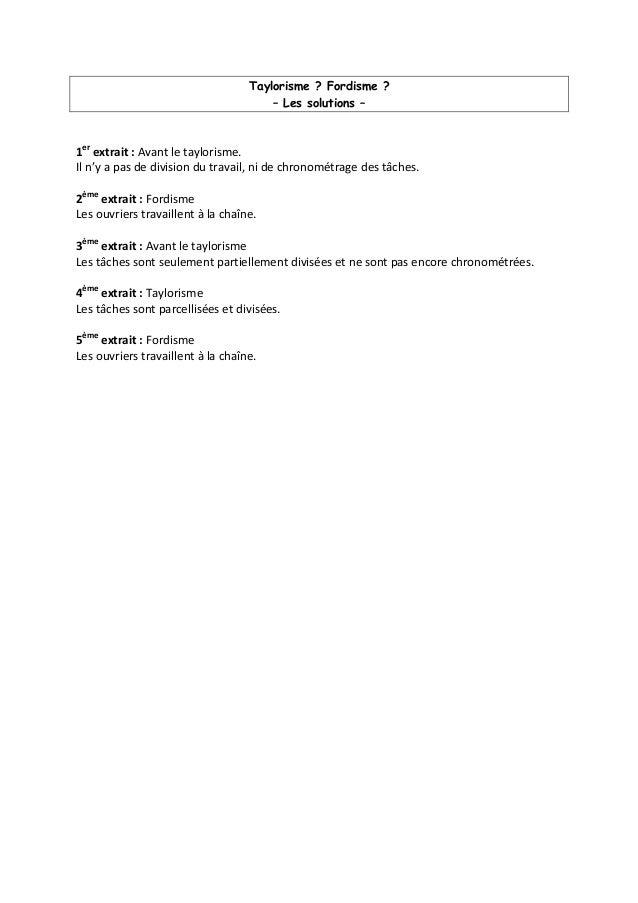 Taylorisme ? Fordisme ? – Les solutions – 1er extrait : Avant le taylorisme. Il n'y a pas de division du travail, ni de ch...