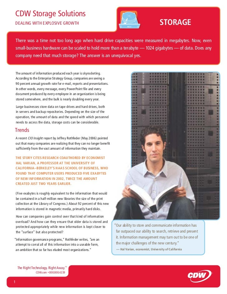 CDW Storage SolutionsDEALING WITH EXPLOSIVE GROWTH                                                                        ...