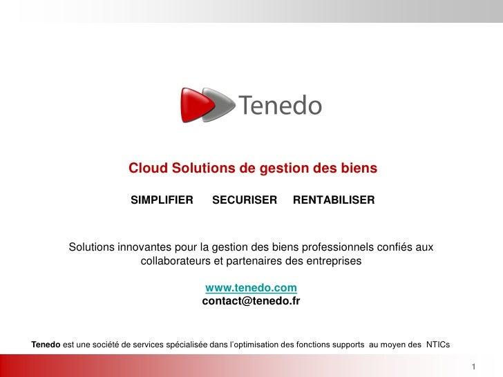 Cloud Solutions de gestion des biens                         SIMPLIFIER           SECURISER            RENTABILISER       ...
