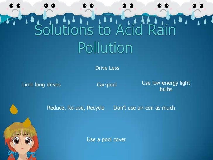 Solutions to acid rain pollution