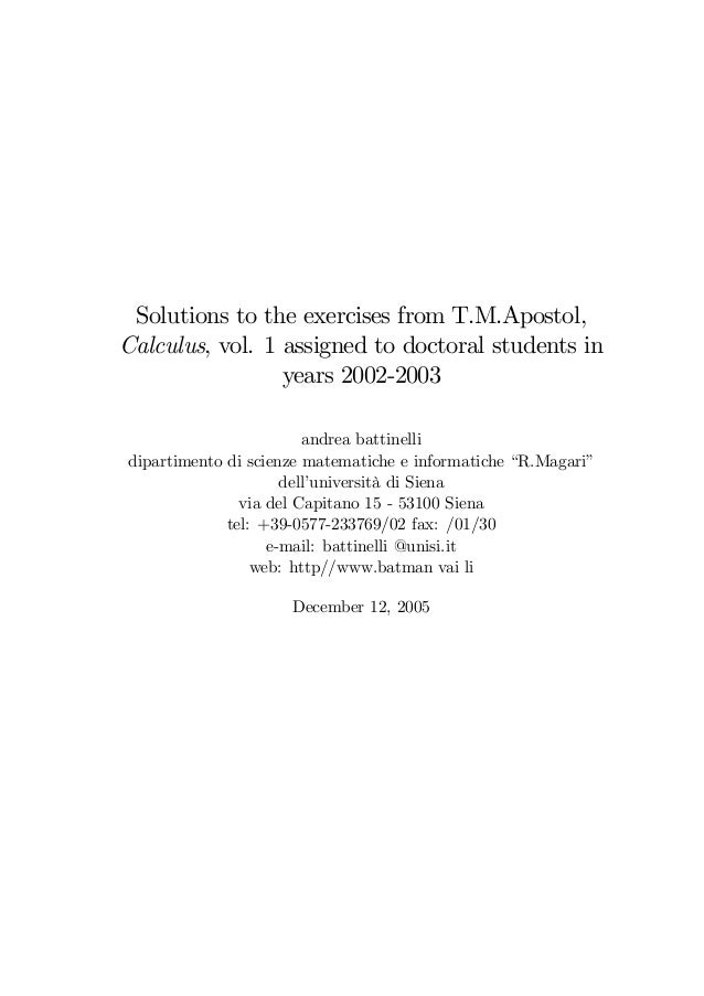 Solutions to apostol analysis problems vol 2