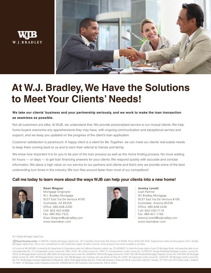 meet clients needs