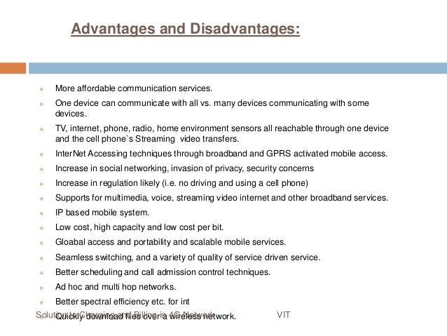 4g technology advantages and disadvantages pdf