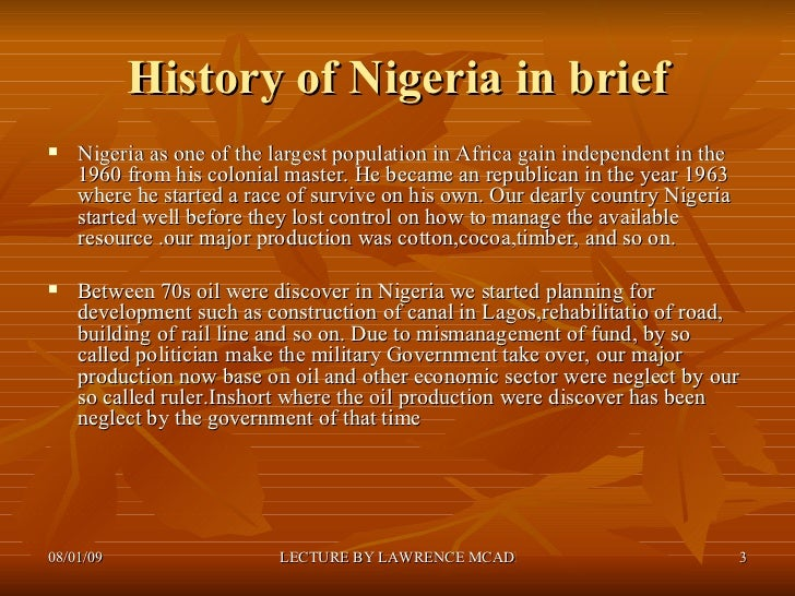 A Short History of Nigeria