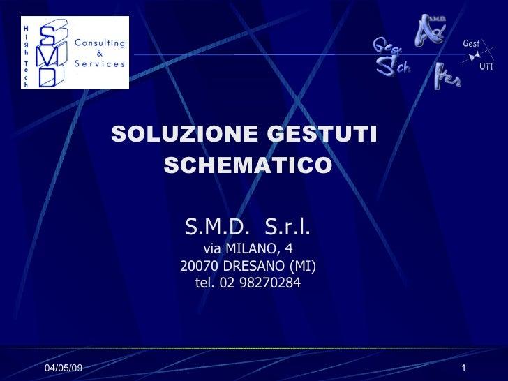 SOLUZIONE GESTUTI  SCHEMATICO S.M.D.  S.r.l. via MILANO, 4 20070 DRESANO (MI) tel. 02 98270284