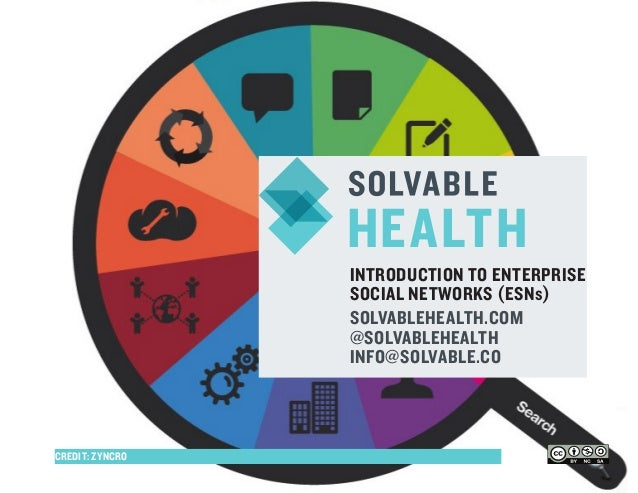 INTRODUCTION TO ENTERPRISESOCIAL NETWORKS (ESNs)SOLVABLEHEALTH.COM@SOLVABLEHEALTHINFO@SOLVABLE.COHEALTHCREDIT: ZYNCRO