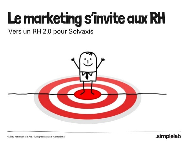 © 2013 netinfluence SARL - All rights reserved - Confidential Lemarketings'inviteauxRH Vers un RH 2.0 pour Solvaxis