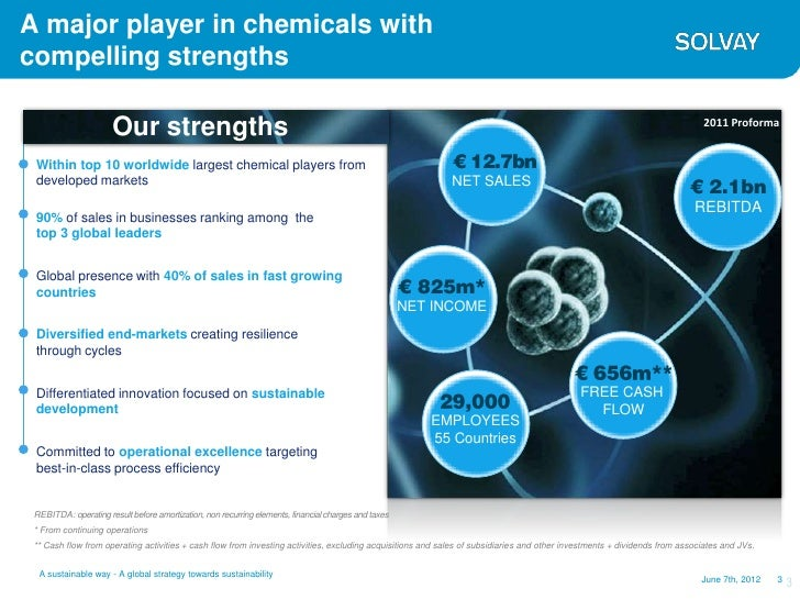 A major player in chemicals withcompelling strengths                      Our strengths                                   ...