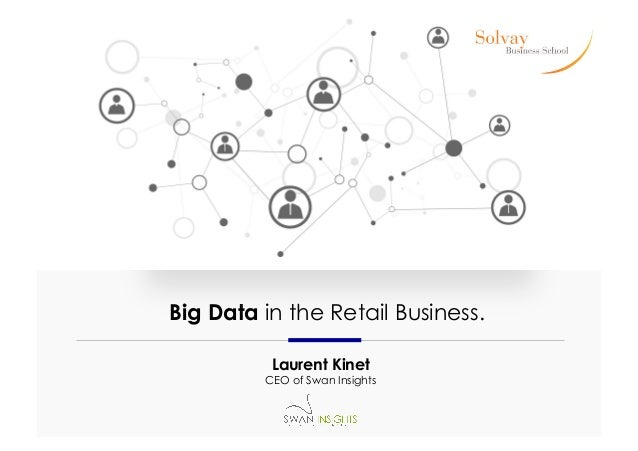 Big Data in the Retail Business. Laurent Kinet  CEO of Swan Insights
