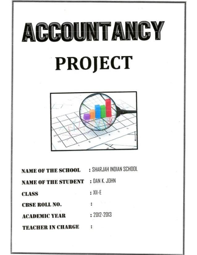 project on cash flow statement
