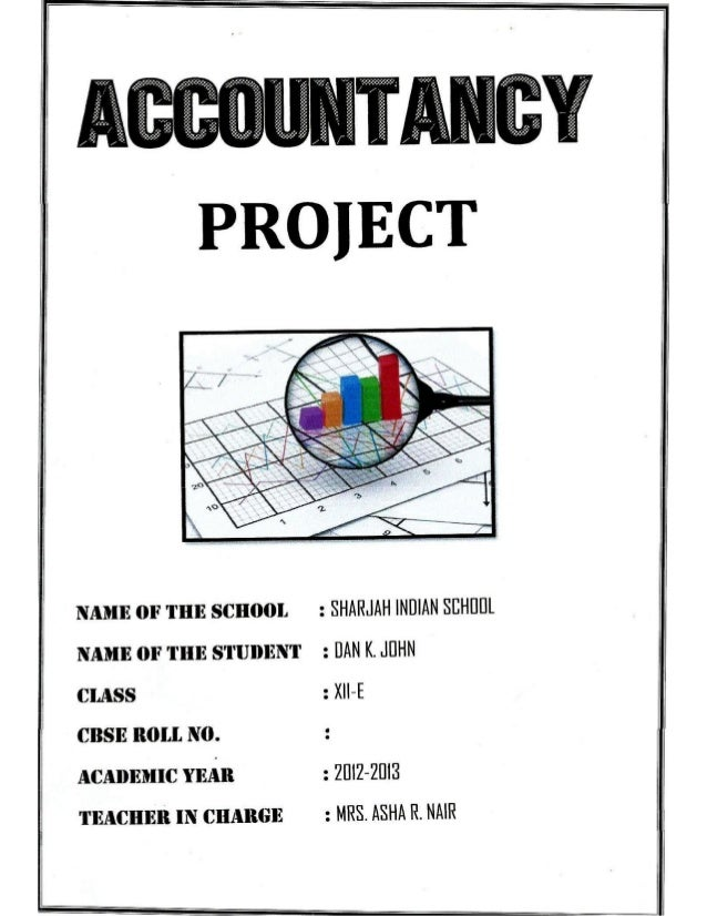 Solved Cbse Class 12 Accountancy Full Project(Comprehensive