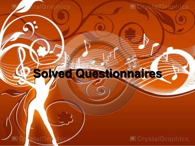 Solved Questionnaires