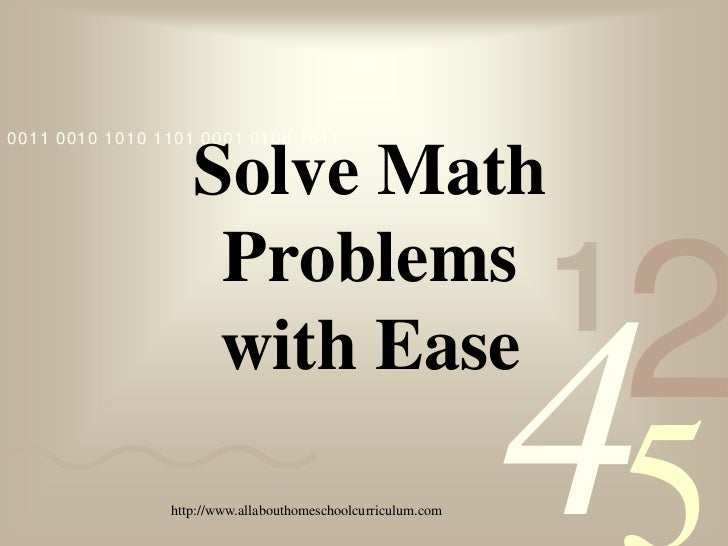 0011 0010 1010 1101 0001 0100 1011                   Solve Math                    Problems                    with Ease  ...