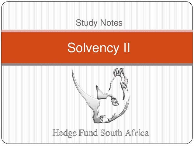 Study Notes Solvency II
