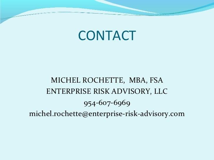 Risk Management Insurance Specialization