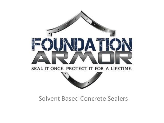 Solvent Based Concrete Sealers
