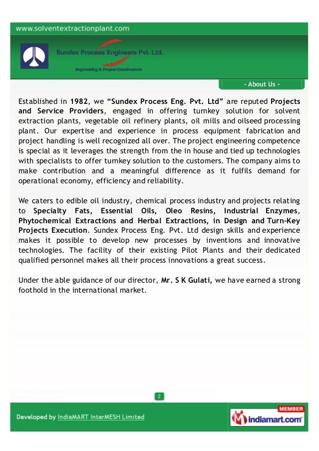 Sundex Process Engineers Pvt. Ltd., Mumbai, Turnkey Projects  Slide 2