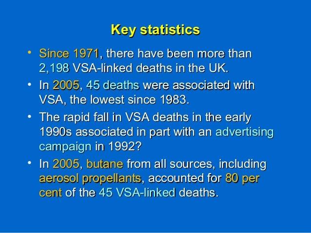 Key statisticsKey statistics • Since 1971Since 1971, there have been more than, there have been more than 2,1982,198 VSA-l...