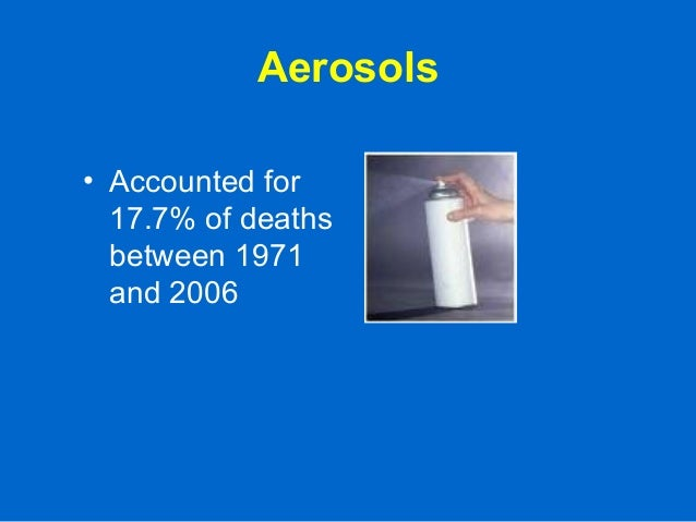 Aerosols • Accounted for 17.7% of deaths between 1971 and 2006
