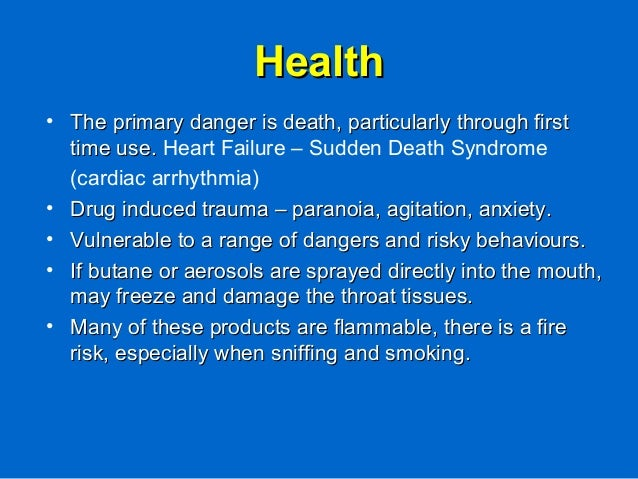 HealthHealth • The primary danger is death, particularly through firstThe primary danger is death, particularly through fi...