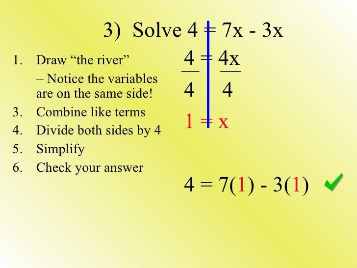 Solving Equations Multiple Steps