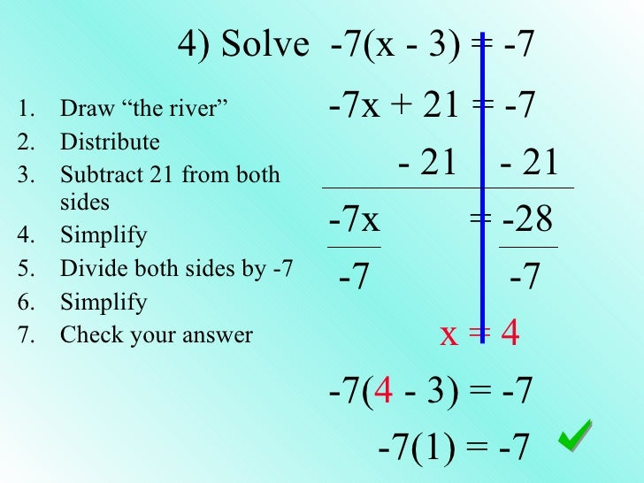 Solving Equations (multiple steps)