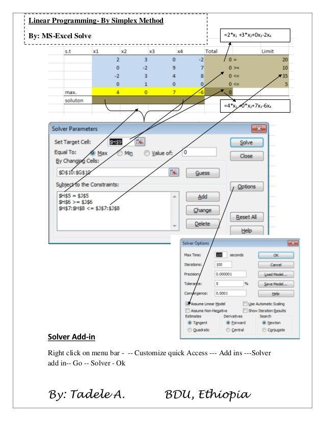 MS-Excel Solver