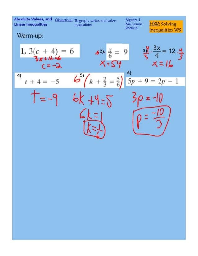 Solving Inequalities pdf