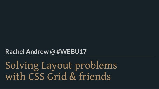 Solving Layout problems 