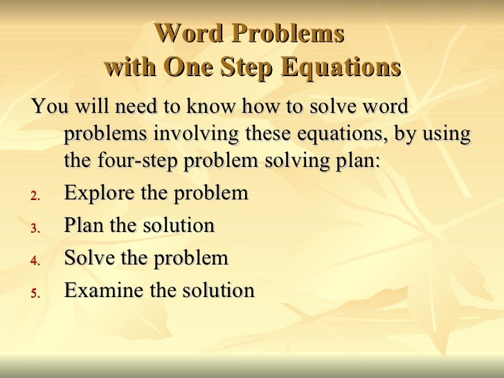 Solving One Step Equations – Two Step Equations Word Problems Worksheet