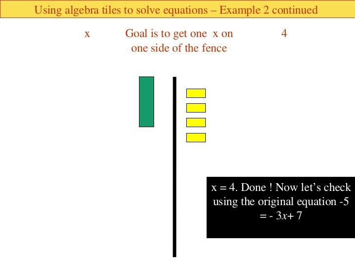Algebra Tiles Solving Equations 28 Images Mrs White S