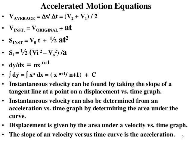problem solving equations of motion